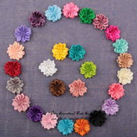 """Headbands Lace Animal 1.5"""" DIY Mini Satin Ribbon Flowers Unfinished Flowers For Baby Flower Headbands Hair Clip Hair Accessories 30pcs lot"""