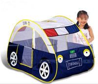 Beach Toys   201404Q Child Kids play tent ultralarge police car toy tent indoor outdoor beach play house 1213886784