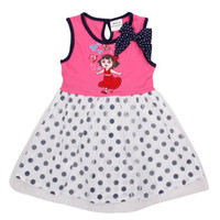 TuTu Summer Pleated Nova 2014 novelty baby fashion clothes 18m-6y girls tutu lace dresses polka dot print bow sleeveless kids party dress jumper skirt