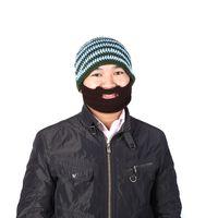 arrival knitting design - Unisex hats Adult Warm Full Beard Beanie Mustache Mask Face Warmer Knit Ski Winter Hat Winter Cap Gift Creative design H3129 New Arrival