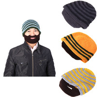 Wholesale Unisex hats Adult Warm Full Beard Beanie Mustache Mask Face Warmer Knit Ski Winter Hat Winter Cap Gift Creative design H3129