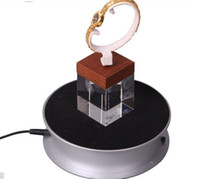 Wholesale 1 KG Loading cm LED Light Rotary Display Stand Rotating Turntable ipad iphone cellphone jewelry display box