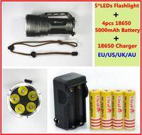 Wholesale 6000LM x CREE XM L XML T6 LED Flashlight Torch Spotlight Light Lamp mah Battery Charger