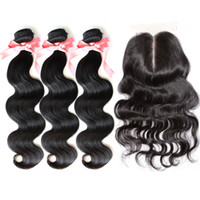 "Malaysian Hair Body Wave Natural Color,can be dyed into #1-#10 1PC Middle Part Top Lace Closure 4""x4"" With 3PCS Hair Bundles Brazilian Malaysian Peruvian Virgin Hair Extensions Natural Color Body Wave"
