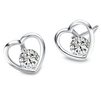 Wholesale Aivni new love heart solid sterling silver earrings European fashion jewelry Ai2066