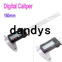 Wholesale Hot Selling inch LCD Micrometer Guage Digital Vernier Caliper with retail package freeshipping dropshipping dandys