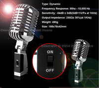 Wholesale Top Quality Professional Wired Dynamic Vintage Microphone For KTV DJ Karaoke Studio Recording Stage Performance Retro Microfone FreeShipping