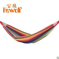 Cotten Outdoor Furniture Yes 2014 New Outdoor Single Hammock Swing Thick Canvas Outdoors send Bangsheng