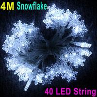 Wholesale 4M LED String Light White Snowflake Christmas Wedding Party Decoration String Lights dandys