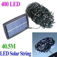 Wholesale IP44 Waterproof m LED Solar String Lights RGB White light Christmas Wedding Party led Strip Garden Tree Decoration Fairy dandys