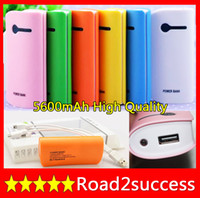 OEM Universal Power Bank 5600mAh power bank 5600 power bank external battery pack portable charger for ipad nokia iphone Fedex Fast Free shipping