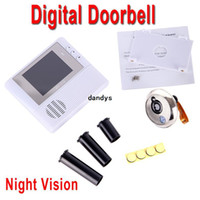 Wholesale White GB Digital Peephole Doorbell M Night Vision Video Record Home Security freeshipping Dropshipping dandys