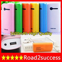 OEM Universal Power Bank 5600 mAh Universal Portable Power Bank External Battery Charger + USB cable For ipad mini galaxy note 2 Smart Phone Fedex Fast Free shipping