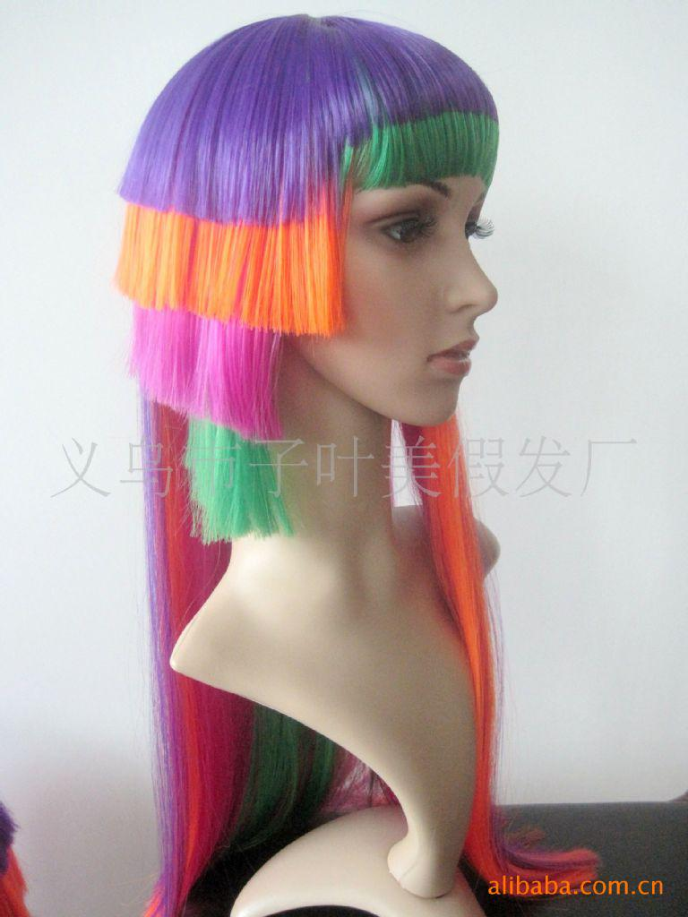 supply festival wigs colored hair colored wigs anime wigs wigs wholesale new wig wig factory eyelashes enhancer genes expression from ledlife - Colored Wig