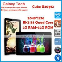 Wholesale RK3188 Quad Core Cube U30gt2 Tablet PC quot FHD Retina Screen GB RAM GB ROM MP Camera HDMI Android Bluetooth OTG WIFI Original