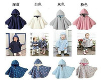 Unisex baby smock - fashion kids Double sided Poncho infant toddler cotton cloak baby boy and girls floral printing cape children cute Smocks outwear Jumpers