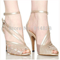 Wholesale In stock CDSO10212 retail fashion salsa shoe high heel Women s Satin Latin Ballroom Dance Shoes