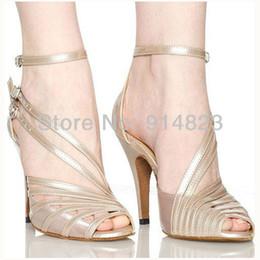 Wholesale In stock CDSO10212 retail fashion salsa shoe high heel Women s Satin Latin Ballroom Dance Shoes