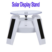 light display stand - Freeshipping Solar Powered Jewelry Phone Rotating Display Stand Turn Table with LED Light Dropshipping dandys