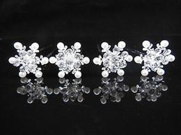 100 Pcs Snowflake Pearl Crystal Bridal Wedding Prom Hair Pins Hair Accessory