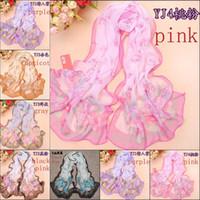 Wholesale 2014 fashion chiffon scarves long foulard shawls scarf women georgette imitated silk fabric scarves beach towel YJ