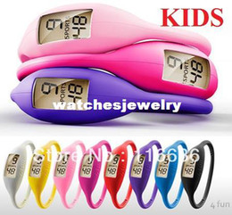 Wholesale Ion Watches Silicone Children KIDS watch colors Silicon Jelly Rubber Teen Slim Ladies Fashion Bulk girls