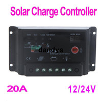 Wholesale 20A V Solar Panel Battery Charge Controller Regulator Light amp Timer Control Temperature Compensation PWM dandys