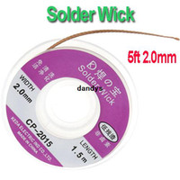 Wholesale Freeshipping ft mm Desoldering Braid Solder Remover Wick Dropshipping dandys