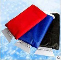 Wholesale EMS Mini New Car Snow Brush Auto Ice Shovel Vehicle Ice Scraper Clean Tool Protect Hand Gloves K07779