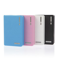 Wholesale Free DHL Dual USB Wallet style LED Flashlig power bank mah With adapters connectors External Battery for S5