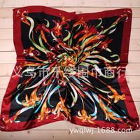 Spot Satin Muffler 2014 new satin silk scarf 90 * 90 large square simulation Silk sand beach towel women scarves