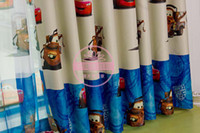 Wholesale Enviroment friendly Child Cartoon Curtain Finished Printed Curtaint Tulle Kids Curtain For Children Mr car
