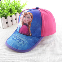 Wholesale 2014 new girl baseball hat frozen children baseball hat beach hat girl pink hat rose red hat cartoon cotton cap
