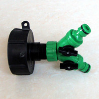 Wholesale IBC water tank fitting garden hose fitting inch buttress adaptor and inch quick coupling two way valve tap