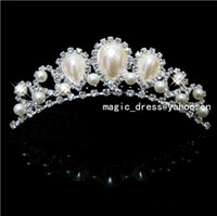 Tiaras&Crowns Rhinestone/Crystal  Shining Wedding Bridal Crystal Pearl Veil Tiara Crown Headband Bridal Accessories Tiaras Hair Accessories HG11