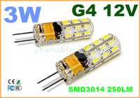 Wholesale 2014 new Car Boat High Power LED Lamp SMD W AC DC V G4 leds Replace W halogen bulb LED light lamp warranty years CE ROHS
