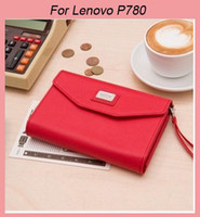 Wholesale New Arrive Leather wallet pouch mobile phone Hand bag case for Lenovo P780 s898t A830 S880 A850 A860 A708T