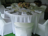 wedding table cloths - Round Shape White Polyester Table Cloth For Wedding