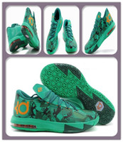 Low Cut Men PU Top Basketball Shoes DS KD VI Easter 6 Kevin Durant Camo Lucid Green Sports Shoe Man New Athletics Sports Boots Men s Sneakers CheapTrainers