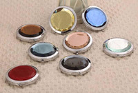 Wholesale New hot sale Round Crystal Cosmetic Mirrors Small Magic Lovely Pocket Mirror Professional Makeup Tools Best Gift for Women
