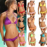 Women Bikinis Dot 2014 New Summer Swimwear & Swimsuit Bikini Set Beach Bikini Sexy Candy Color Bikini Swimming Suit Women's Bathing Suits WYB039