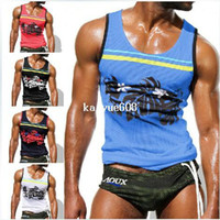 Wholesale any mens tank top men vest shirt clothing AQUX brand Active sport sexy designer chest binder tshirt cheap sleeveless hoodie