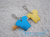 Wholesale Creative cute Coat Dog Tags Aluminum Customized Pet ID Ball Chains D321