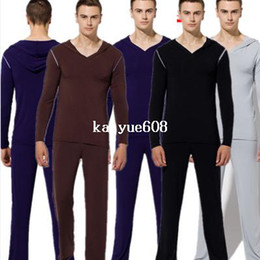 Wholesale 1 set men s Pajamas men for winter male sleepwear home gay sexy long pants lounge winter modal clothing set nightgown