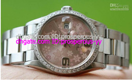 Hot Sale AAA Top Quality Lowest Price LUXURY LADIES AUTOMATIC WATCH PINK FLORAL DIAL CUSTOM DIAMOND BEZEL WOMAN'S WATCHES