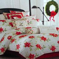 Wholesale Lenox winter christmas wishes flowers piece cotton bedding set