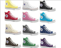 Wholesale high top Unisex canvas shoes mens womens Casual Shoes sport shoes mix order