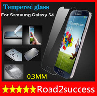 0.3 mm Flat Vertical section 9H Hardness Nano-coated Tempered Glass Film Explosion-Proof Premium Tempered Glass Screen Protector Film for Samsung Galaxy i9500 S4 SIV S IV Anti Shatter DHL Fedex Free shipping