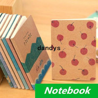 Wholesale 24 Vintage Notebook B7 Crayon cover diary book Pocket portable notepad stationery office material School supplies dandys