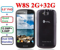 THL W8S 2GB / 32GB mtk6589t 1.5GHz 5.0quot Quad Core; 1080P FHD de pantalla Android 4.2 3G Smartphone 1920 * 1080 teléfonos 13.0MP Gorila III